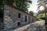 Restored traditional watermill in Agios Germanos village at the Prespes Lakes, Greece
