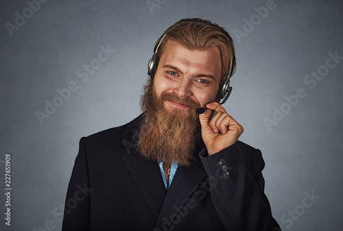 Leinwandbild Motiv Professional customer service representative employee
