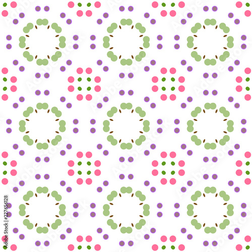 Seamless abstract pattern background with a variety of colored circles. - 227656128