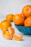 fragrant orange tangerines with holiday taste