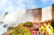 Experiencing the Misty Waterfalls at Niagara Falls, New York