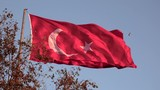 Large flag of Turkey flying in strong breeze - 227673742