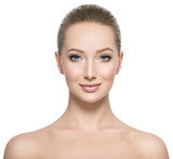 Profile portrait of the beautiful woman