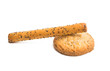 sticks with poppy seeds isolated