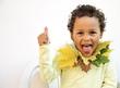 Quadro little boy having fun with autumn leaves