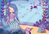 cute mermaid cartoon - 227694918