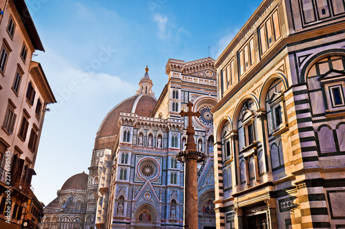 Leinwanddruck Bild Majestic cathedral Santa Maria del Fiore in Florence