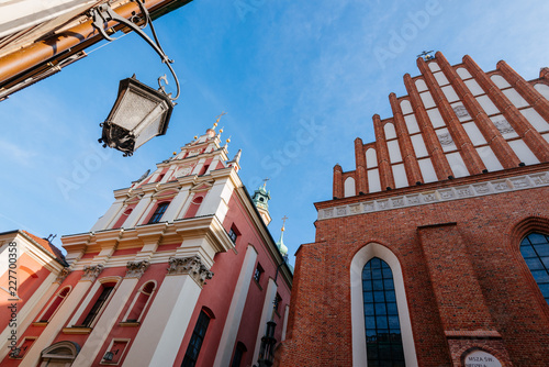 Warsaw old town. St. John's Archcathedral and Shrine of Our Lady of Grace the Patron of Warsaw