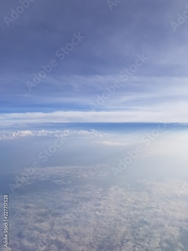 Arial Clouds from Plane - 227717528