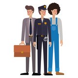 group of professionals avatar character - 227717997