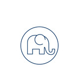 Isolated elephant silhouette design