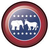 Isolated donkey and elephant of vote design