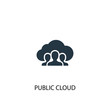 public cloud icon. Simple element illustration. public cloud concept symbol design. Can be used for web and mobile.