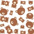 cute bears teddy pattern - 227732390