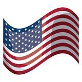 Isolated usa flag design