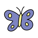 cute butterfly drawing icon - 227734115