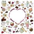 Set of objects, ice cream - 227734546
