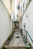 narrow street in old town, in Lisbon Capital City of Portugal