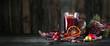 Leinwanddruck Bild - leckerer Glühwein im Glas