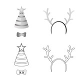 Vector design of party and birthday icon. Set of party and celebration stock symbol for web. - 227739989