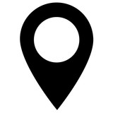 map point icon on white background. pin sign for your web site design, logo, app, UI. flat style. Destination symbol. location black icon.