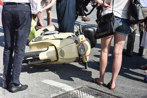 Incidente con moto scooter