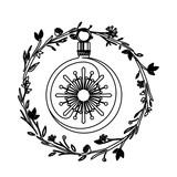 Sphere inside crown of Christmas season design