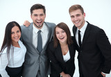 happy business team.isolated on a white background. - 227754794