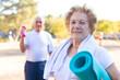 Leinwandbild Motiv older people doing outdoor sports