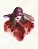 beautiful woman. fashion illustration. watercolor painting - 227759301