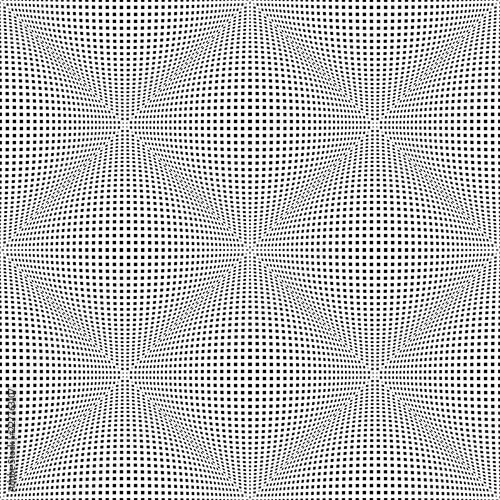 Fototapeta Seamless checked 3D pattern. Convex texture.