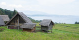 traditional wooden huts