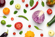 Wallpaper abstract composition of fruits and vegetables - 227780385