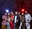 Happy diverse friends celebrating New Year together - 227783129
