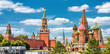 Leinwandbild Motiv Moscow Kremlin and St Basil's Cathedral on the Red Square in Moscow
