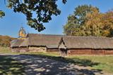 Village, autumn, sunny day.