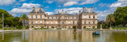 Paris, the Senat in the Luxembourg garden, french institution, beautiful building
