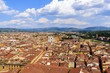 Quadro Panoramic view of Florence. Basilica of Santa Croce. Florence, Italy.