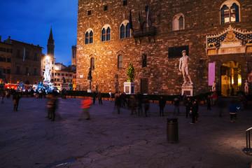 Piazza della Signoria in Florence at night