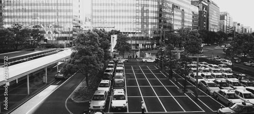 taxis in the city - 227843722