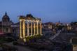 Quadro Forum Romanum in Rome at Night