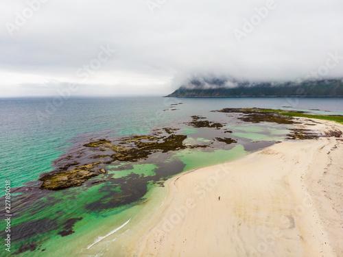Skagsanden Beach on Flakstadoy island, Lofoten Norway