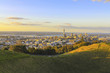 Mt Eden Crater and View to Auckland New Zealand; Lovely Morning Time; Auckland is the largest city in New Zealand - 227852796