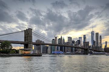 Panorama new york city at evening