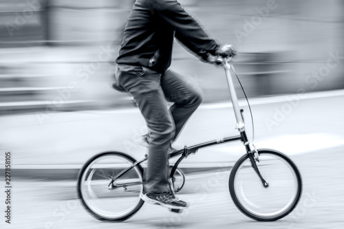 alternative ecological clean transport in monochrome blue tonality - 227858105