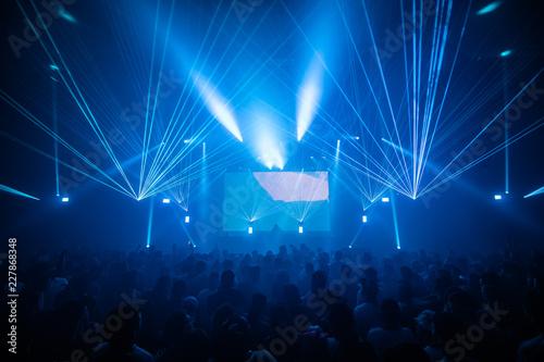 Foto Murales blue laser show concert