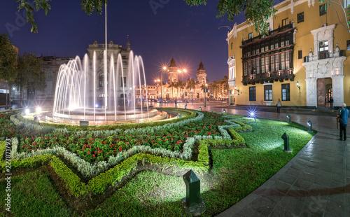 Peru Square in Lima downtown, Peru.