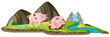 Pig in nature background
