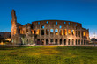 Quadro Panoramic view of Colosseum in Rome in the early morning, Rome, Italy,
