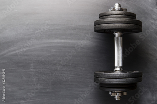 Dumbbell with black weight. - 227890995